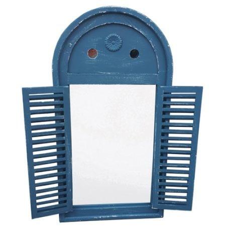 Огледало с капаци DecoDepot Антично, Синьо