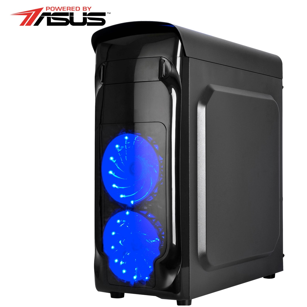 Fotografie Sistem Desktop Gaming Serioux Gamer Powered by ASUS cu procesor Intel Core™ i5-7400 Kaby Lake, 3.0GHz, 8GB DDR4, 1TB HDD, ASUS GeForce® GT 1030 2GB