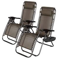 Timeless Tools zéró gravitáció kerti szék ajándék pohártartóval, 2 db - Szürke