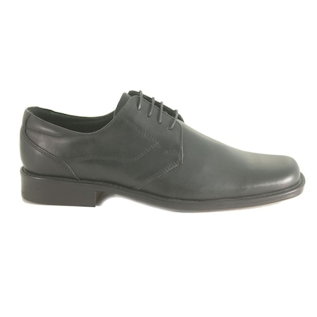 Pantofi eleganti barbati, Model 411, cu Varf Patrat, Negru, din Piele Naturala 41EU