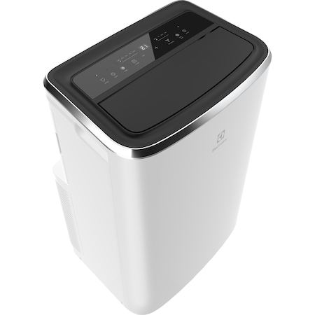 Aparat de aer conditionat mobil Electrolux EXP34U338CW, 12000 BTU, Clasa A, Filtru anti-bacterian, Filtru Anti-Allergy Pollen, Timer, Auto-restart, Telecomanda, Dezumidificare