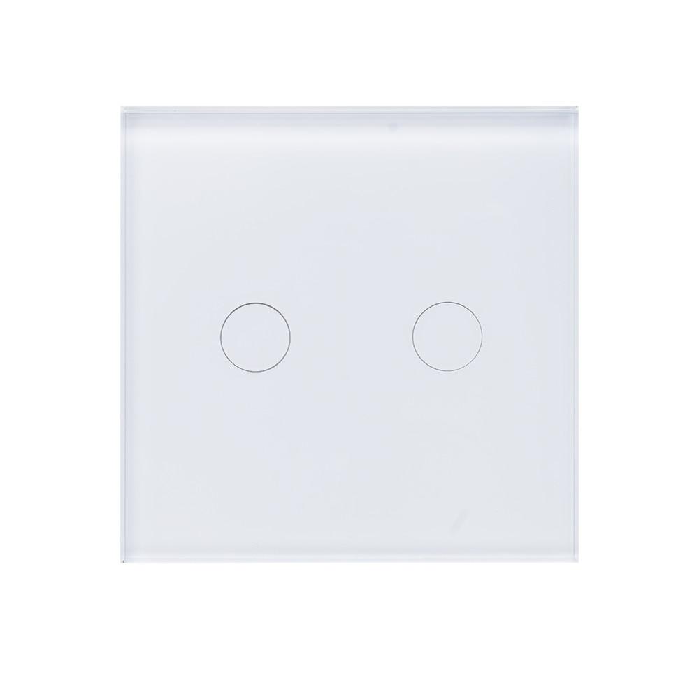 Fotografie Intrerupator inteligent dublu PNI SmartHome WS202, Wi-Fi, pentru control lumini prin internet