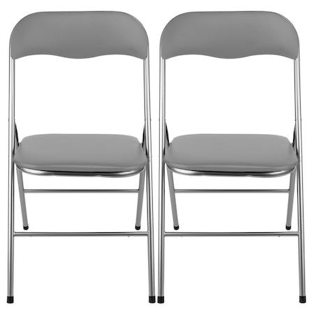 Комплект 2 стола Kring Primo, Сгъваеми, Сив