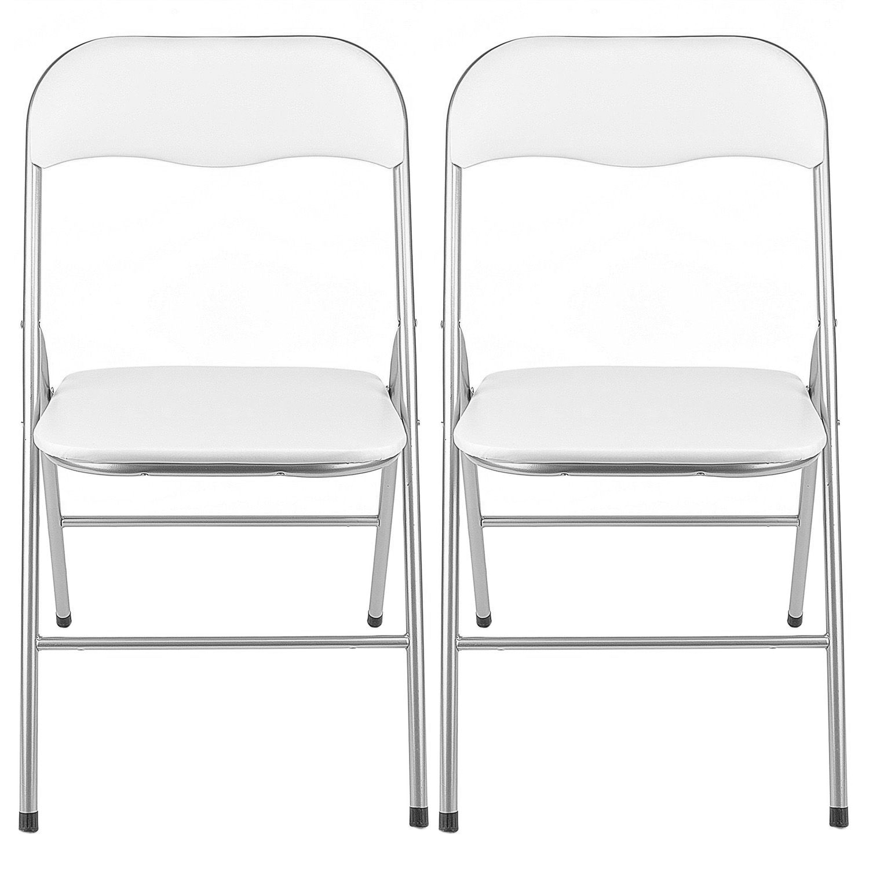 Fotografie Set 2 scaune bucatarie, pliante, Kring Primo, Alb