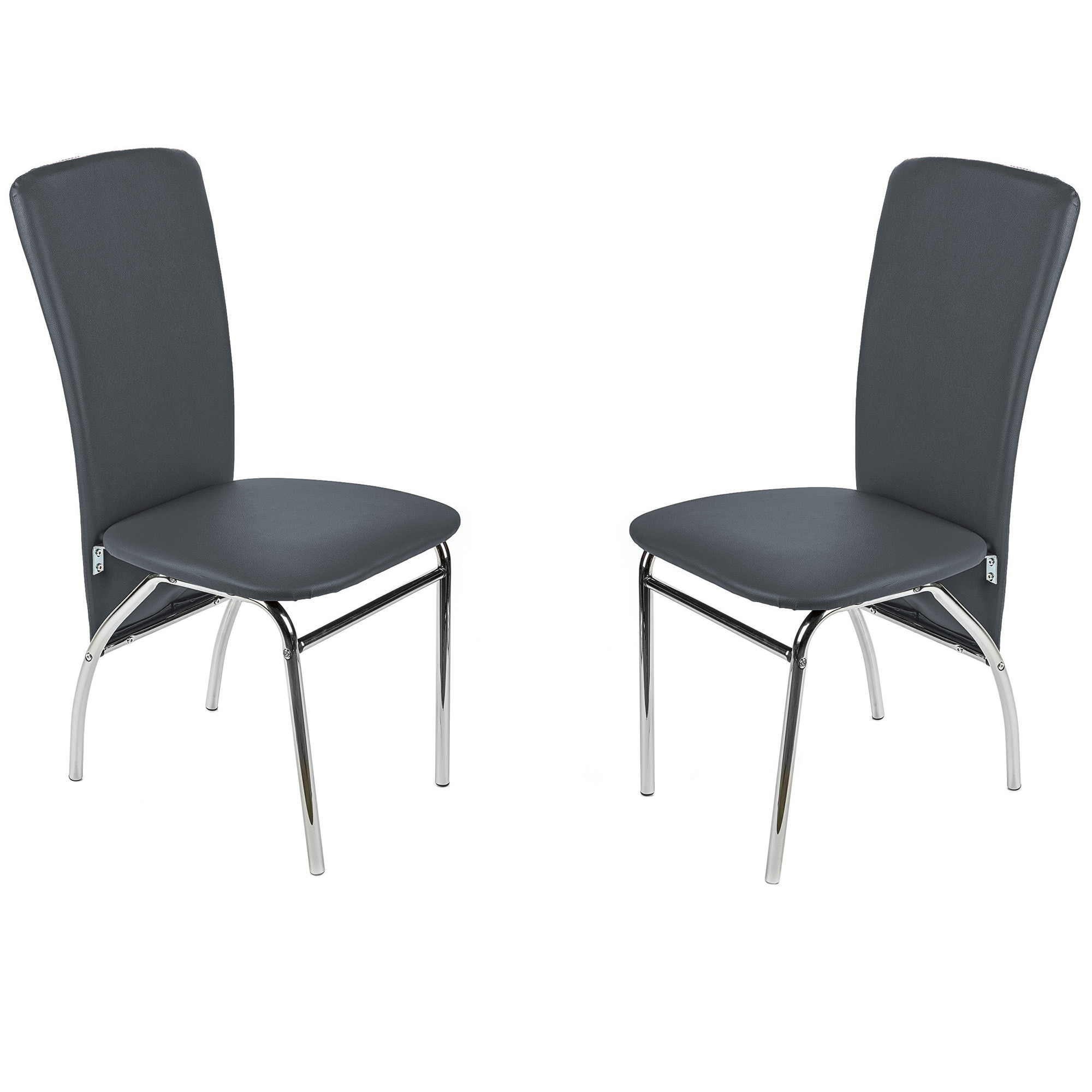 Fotografie Set 2 scaune dining / bucatarie Kring Milano, Gri