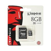 Micro SD HC карта памет Kingston, 8GB, class 4