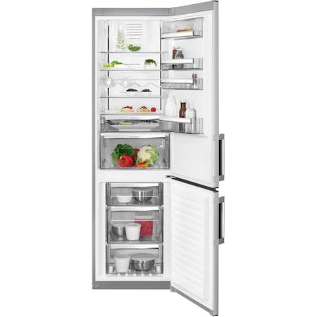 Хладилник с фризер AEG RCB63726KX, 334 л, Touch control, Клас A++, Височина 185 cм, Inox