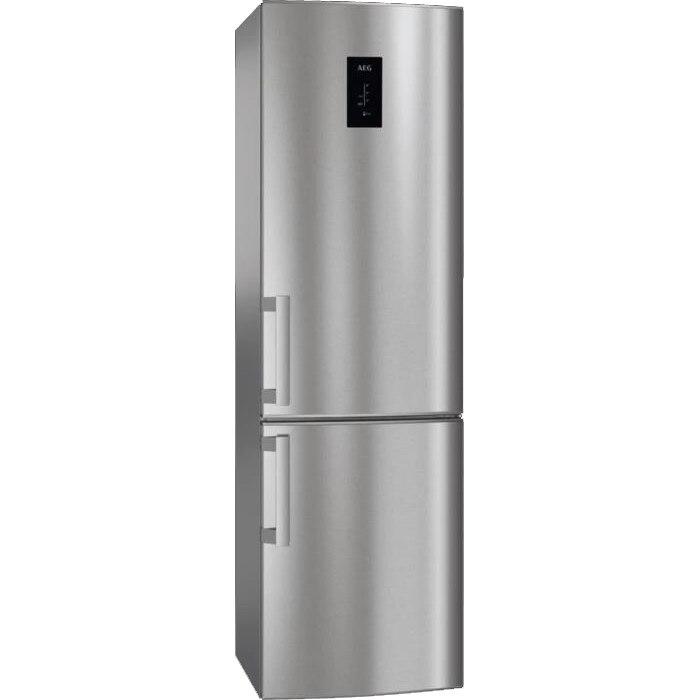 Fotografie Combina frigorifica AEG RCB53426TX, 311 l, Clasa A++, Touch control, Iluminare LED, H 185 cm, Inox