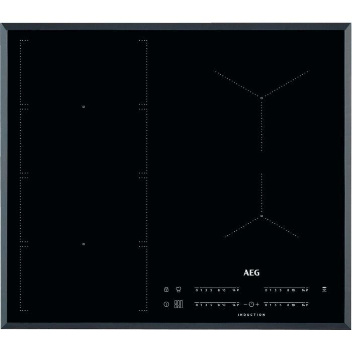 Fotografie Plita incorporabila AEG IKE64471FB, Inductie, 4 zone de gatit, Touch control, 60 cm, Negru