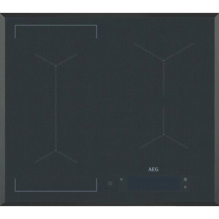 Fotografie Plita incorporabila AEG IAE64843FB, Inductie, 4 zone de gatit, Touch control, 60 cm, Negru
