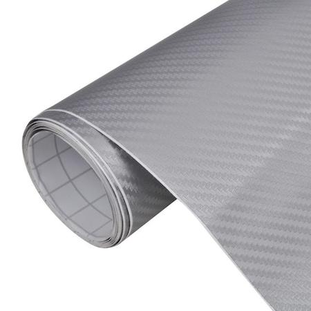 Folie carbon auto 3D, 2 x 1.27 M, Argintiu