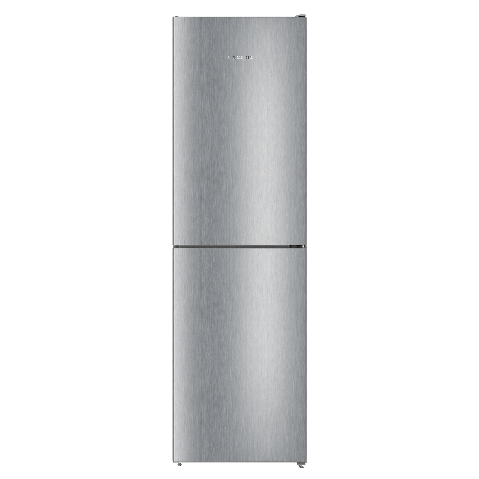 Fotografie Combina frigorifica Liebherr CNel 4713, 328 L, No Frost, Display, Control taste, Raft sticle, Alarma usa, H 201.1 cm, Clasa A++, Argintiu