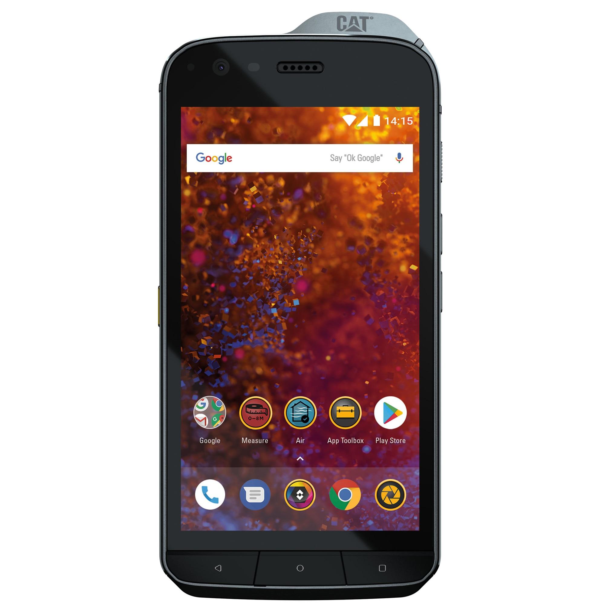 Fotografie Telefon mobil CAT S61, Dual SIM, 64GB, 4G, Black + Hibrid Case