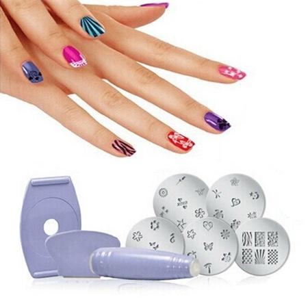 Комплект за маникюр Salon Express Nail Art Stamping Kit