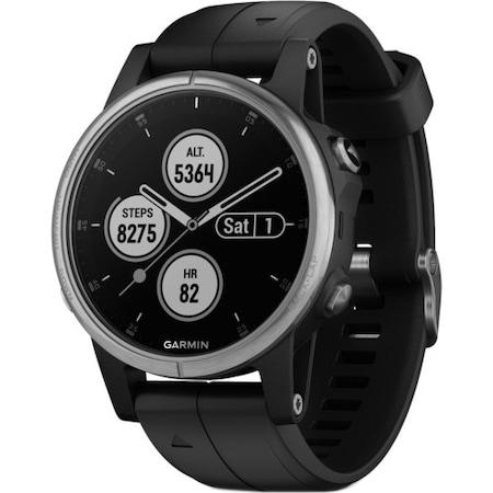 Часовник Smartwatch Garmin Fenix 5S Plus, HR, GPS, White, Silicone Seafoam, Сребрист