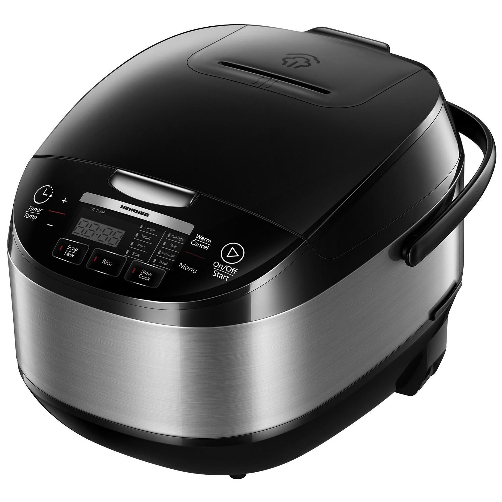 Fotografie Multicooker Heinner HMCK-5BK, 5 L, 770 W, 11 programe, Timer, Control Touch, Functie mentinere la cald, Negru
