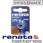 Батерия от сребърен оксид Renata 370 SR920W, 1.55V 40mAh