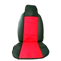 Комплект кожени калъфи AlMar RECARO за предните седалки, Черен/Червен, 2 бр.