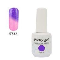 Гел лак Pretty Термо 5732 цвят брокатено лилаво небе 10 мл