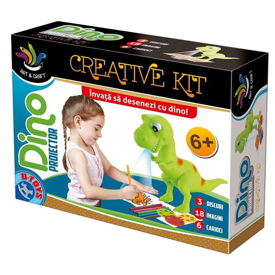 Fotografie Joc creativ D-Toys, Proiector Dino