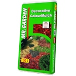 Fakéreg - 50 Literes Prémium Minőségű Igazi Keményfa Mulcs Vörösre Színezve, 3 M2 Terület/zsák - Fakéreg Vörös
