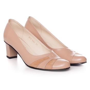 Krémszínű, extra minőségű természetes bőrből készült női cipő, 37-es méret