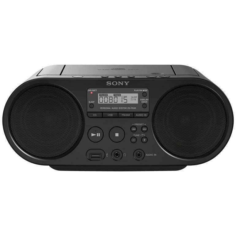 Fotografie Microsistem audio Sony ZSPS50, CD Player, tuner FM, 2x2W, USB, Negru