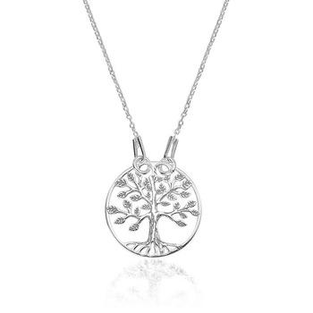 e-Crystal - 925 ezüst ródiumozott nyaklánc medállal - Az élet fája
