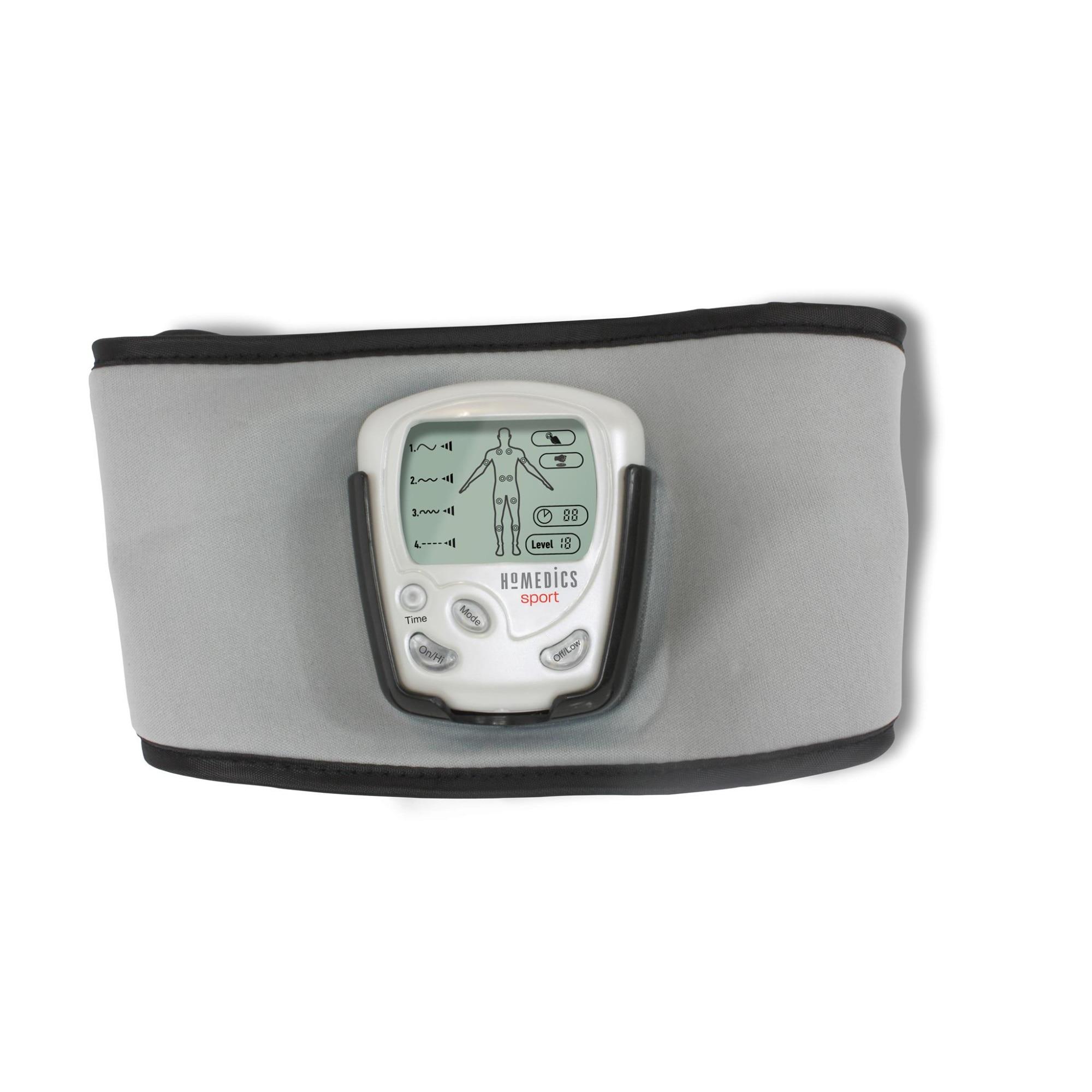 Fotografie Centura pentru tonifiere HST-200-EU, Homedics, 5 pernute cu gel, 6 programe de tonifiere, ecran LCD, temporizator, Gri