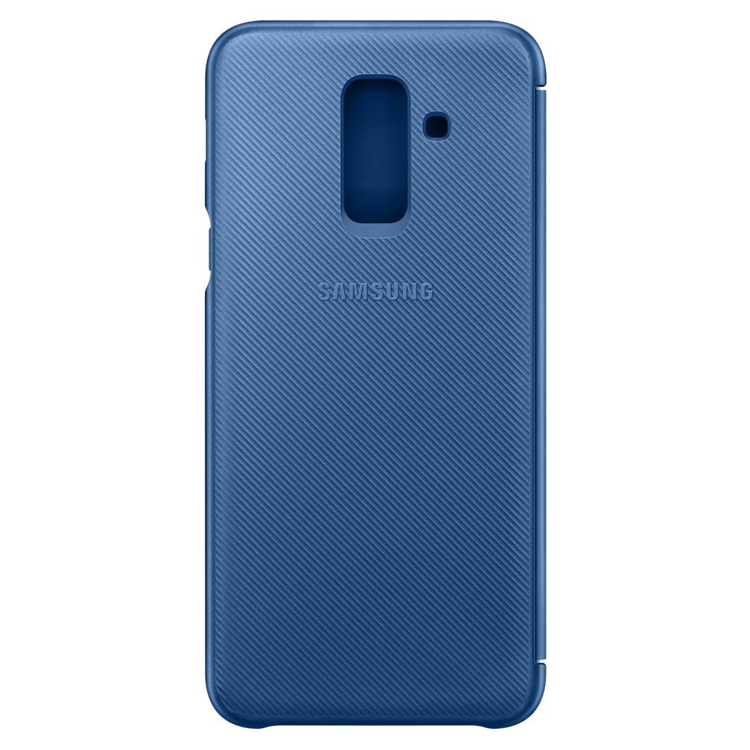 Fotografie Husa de protectie Samsung Wallet Cover pentru Galaxy A6 Plus (2018), Orchid Blue