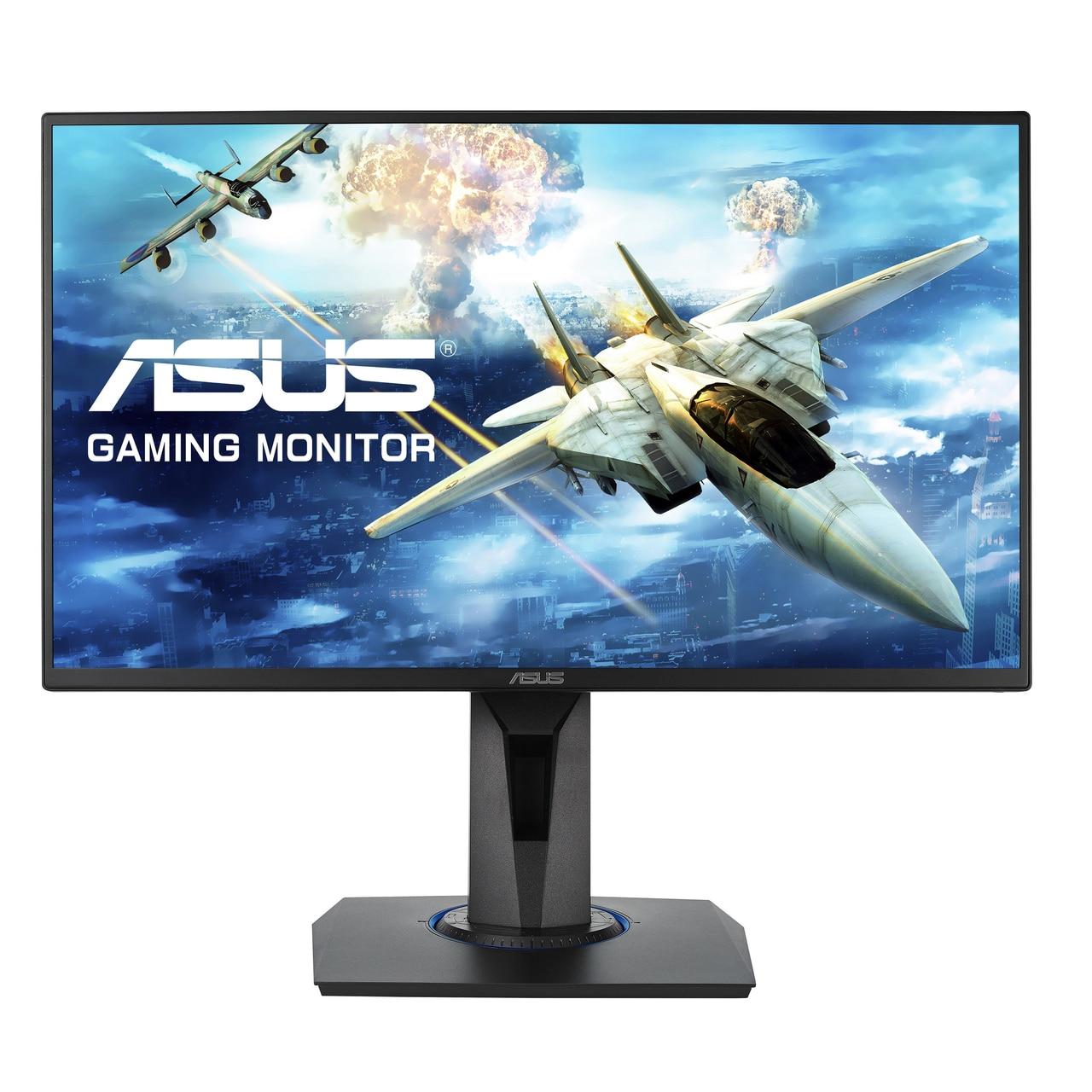 "Fotografie Monitor Gaming LED TN ASUS 24.5"", Full HD, 75Hz, FreeSync, 1ms, HDMI, Negru, Pivot, VG255H"