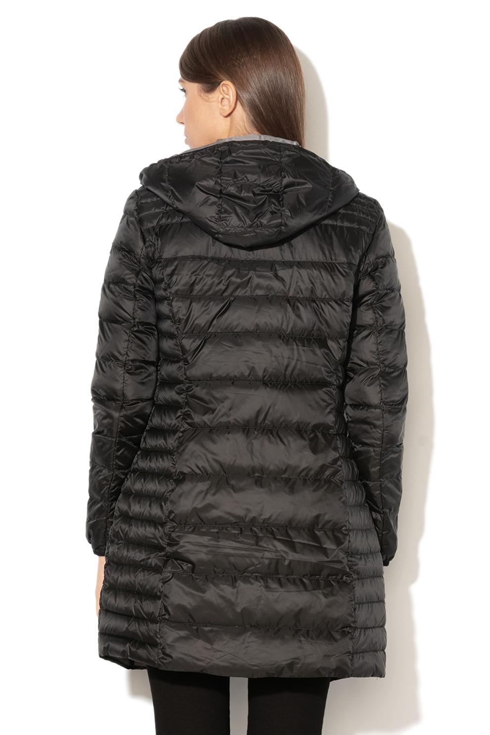 Esprit, Könnyű, pihével bélelt hosszú dzseki, Fekete, M