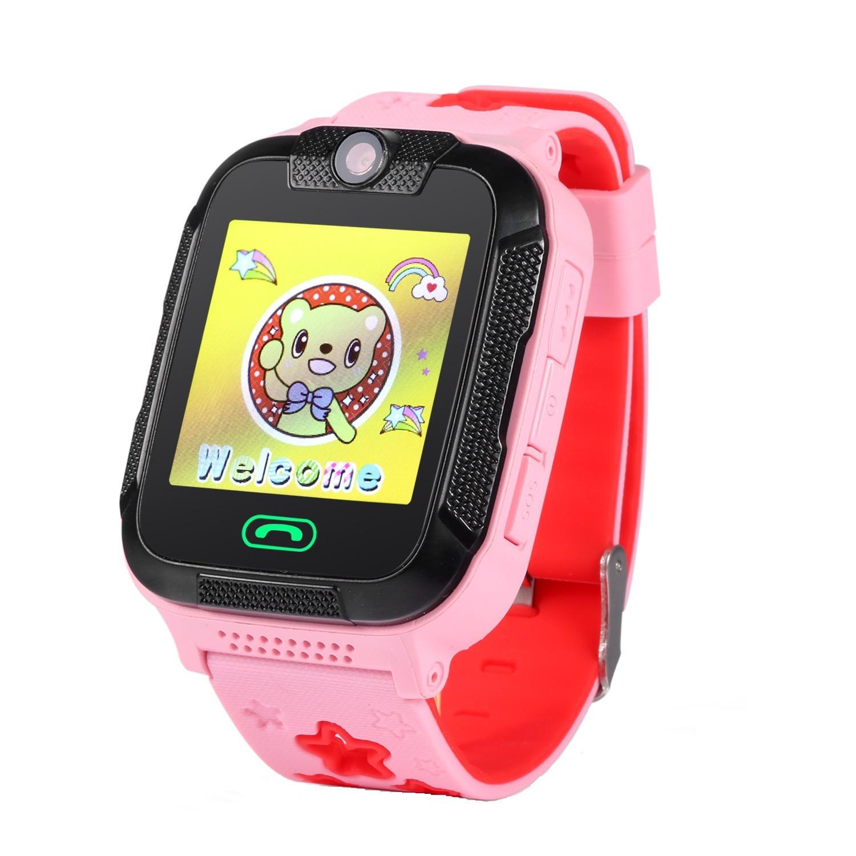 Fotografie Ceas smartwatch copii Wonlex GW2000 3G, GPS, Functie telefon, SIM prepay cadou, Roz