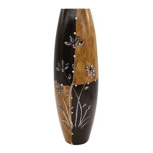 Vaza din lemn, 39 cm