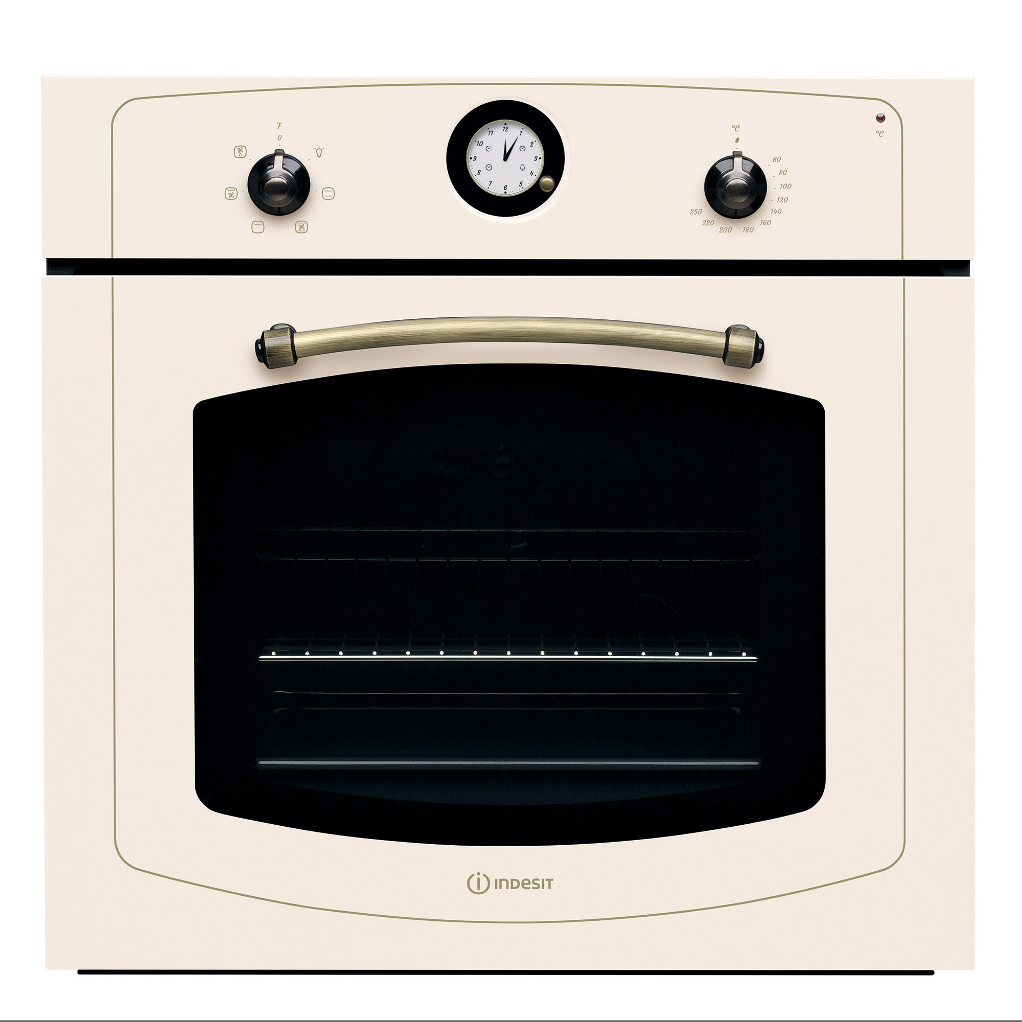 Fotografie Cuptor incorporabil Indesit IFVR500OW, Electric, 60 l, Multifunctional, Grill, Clasa A, Bej