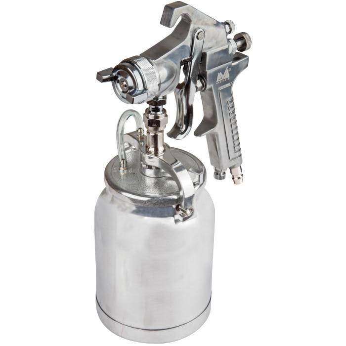 """Fotografie Pistol de vopsit cu aer comprimat Evotools, 1000ml, Pmax 3 bar, duza 2 mm, racord aer 1/4"""""""