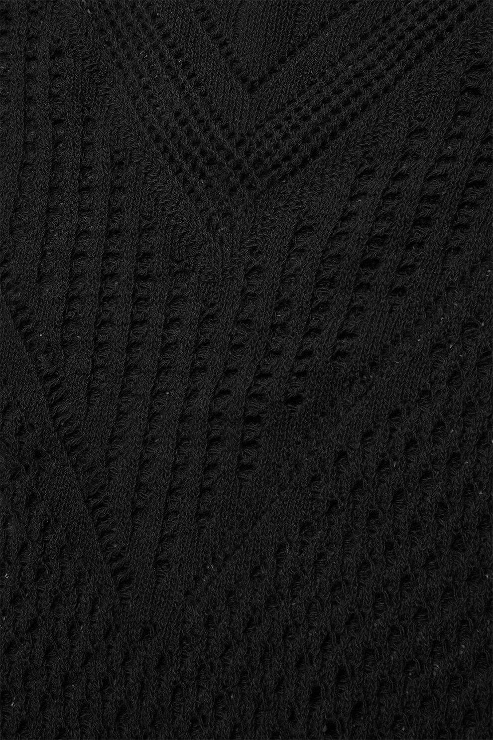 NEXT, Horgolt pulóver, Fekete, S eMAG.hu