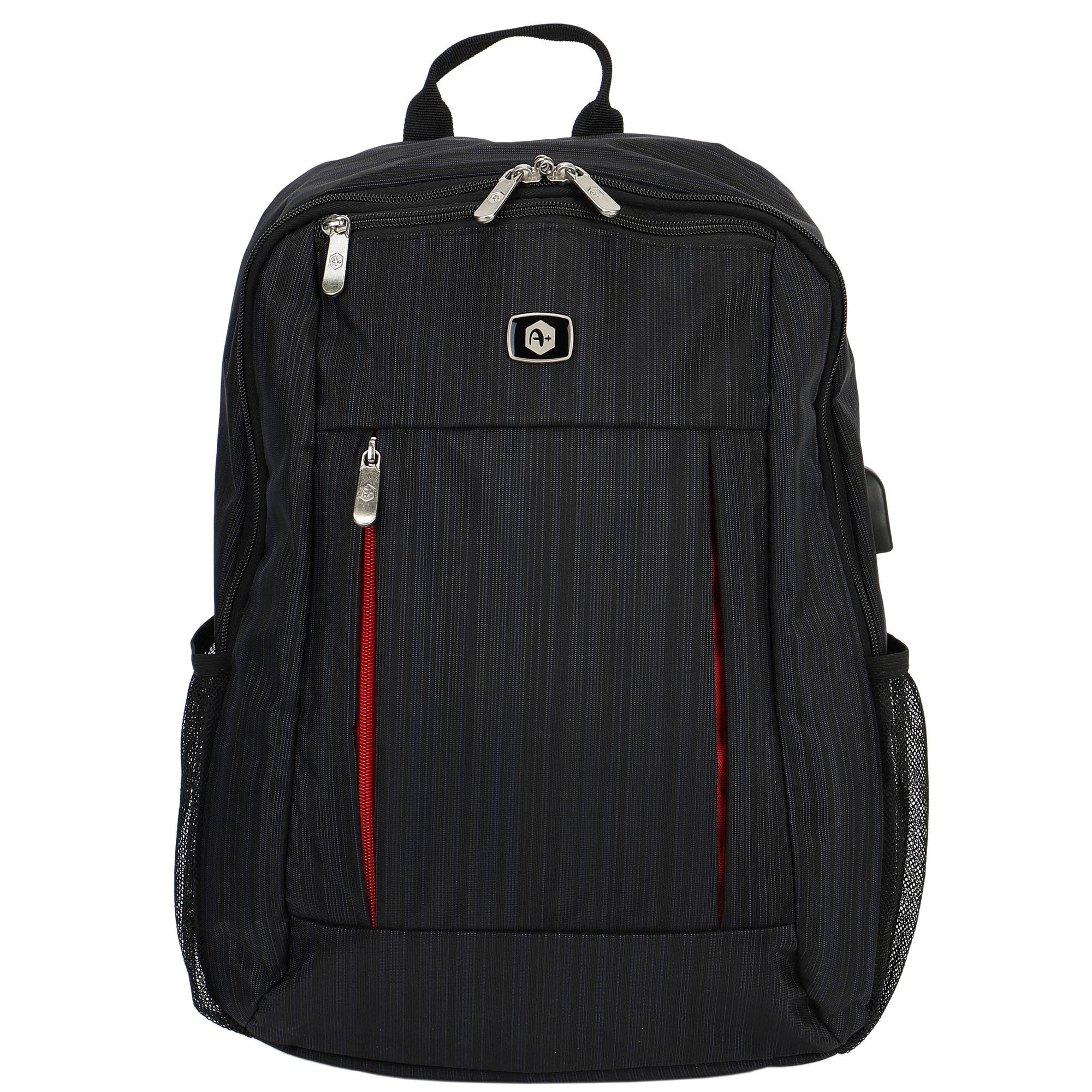 """Fotografie Rucsac Laptop A+ Killeen cu port USB de incarcare, 15,6"""", Black"""