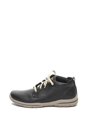 Skechers, Harper Melden bőrcipő, Fekete, 42