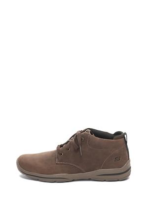 Skechers, Harper bevont bőr cipő, Barna, 42.5