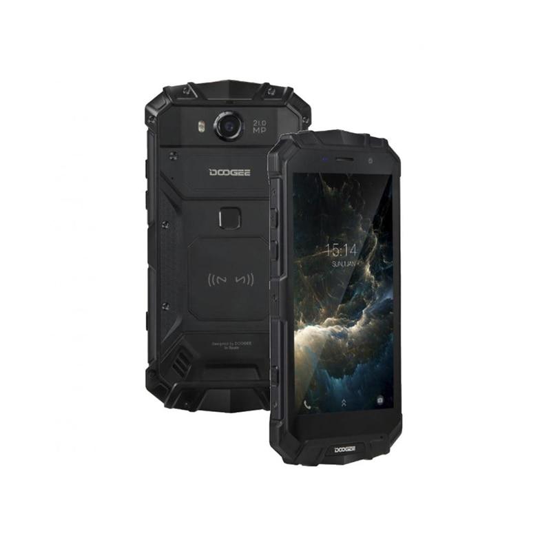 Doogee S60 Lite 4G Mobiltelefon, Gyors töltés, Ujjlenyomat, Dual SIM, Android 7.0, Wireless töltő, IP68, 5.2 Inch, 4GB RAM 32GB ROM, Fekete