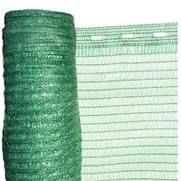 Árnyékoló Háló 1,2 X 50 M - Zöld 36 G/m2 - 30%-Os Fényszűrő Védőháló - Uv Stabil Hdpe Takaróháló - Raschel