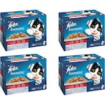 Комплект Храна за котки в зряла възраст PURINA® FELIX® Fantastic, Месо, Мокра храна, Пауч, 4 стека по 12 бр. х100g