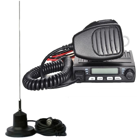 Statie radio auto emisie receptie multistandard + ANTENA 110CM + MAGNET