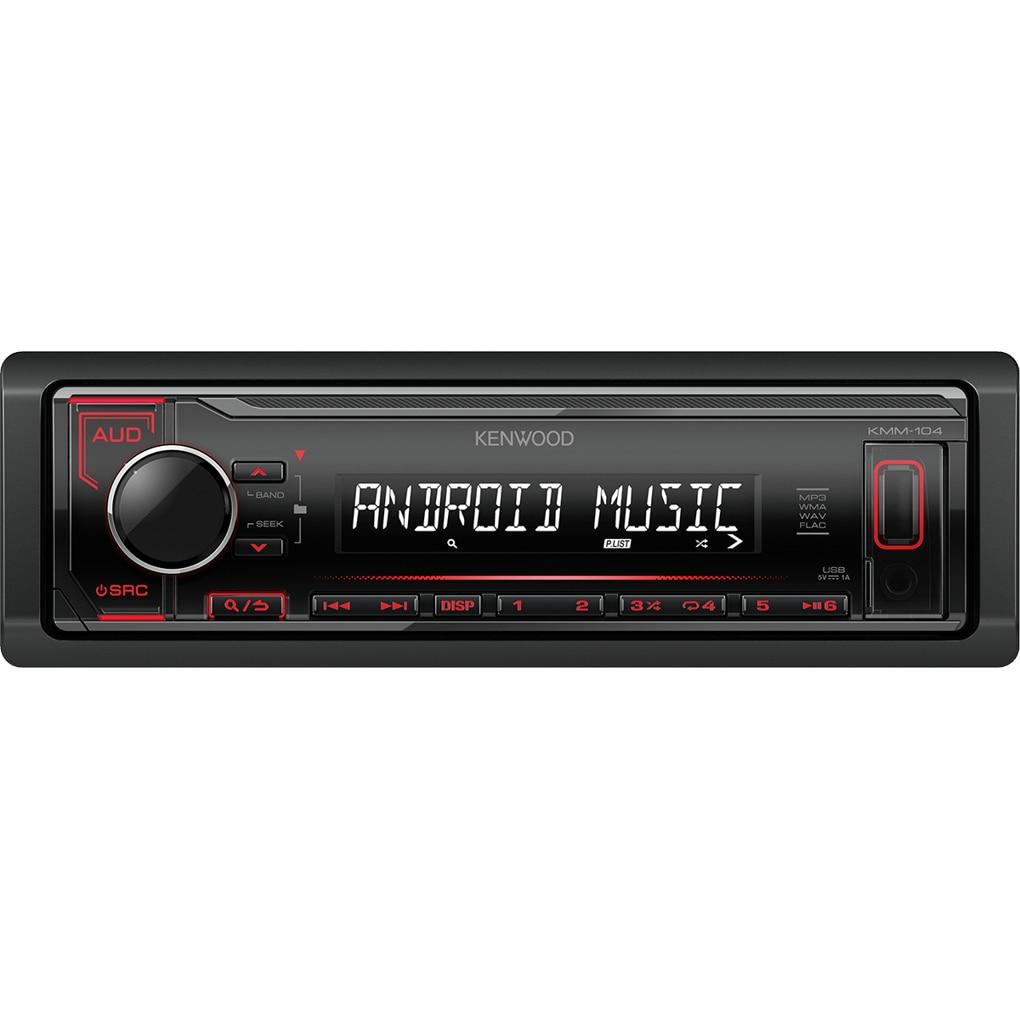 Fotografie Player auto Kenwood KMM-104RY, 4 x 50W, USB, AUX, iluminare Rosu