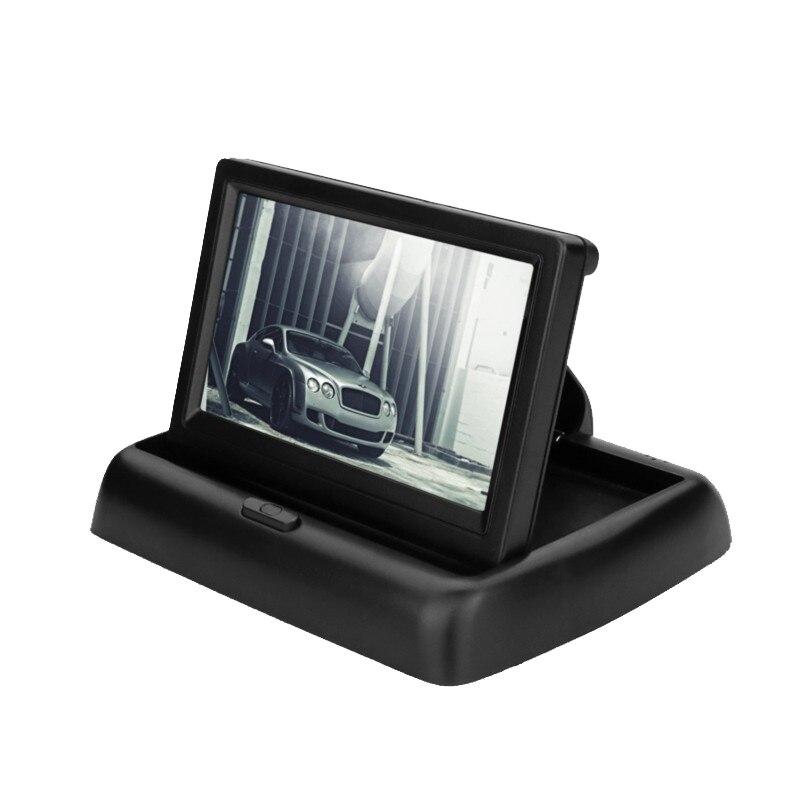 "Fotografie Monitor Color TFT-LCD Car Vision, MM-01, 4.3"" rabatabil, 2 intrari video, rezolutie 480 x 272"