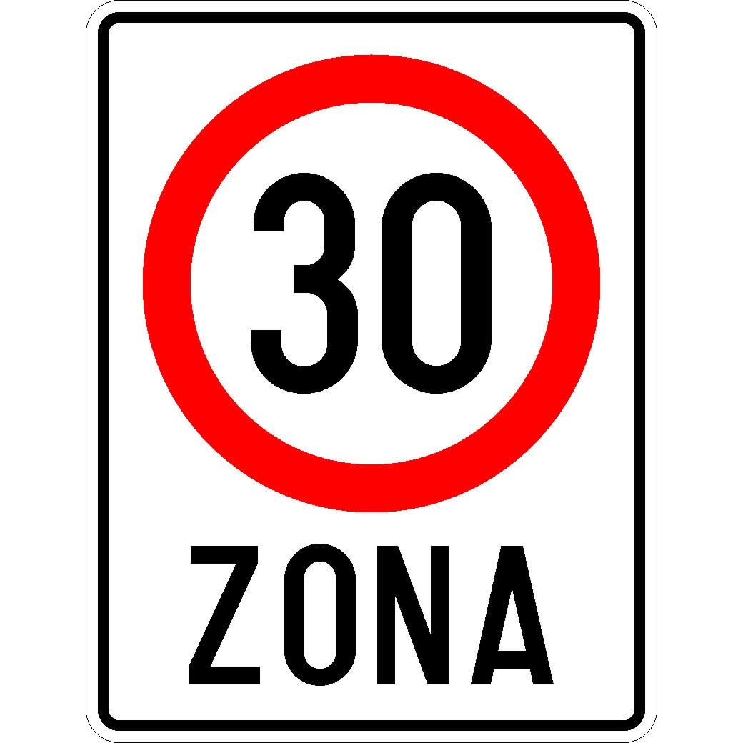 Indicator rutier Zona cu viteza limitata la 30km/h 650x500 mm - eMAG.ro