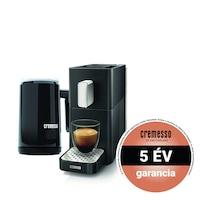 Cremesso Easy kapszulás kávéfőző tejhabosítóval 19bar Fekete