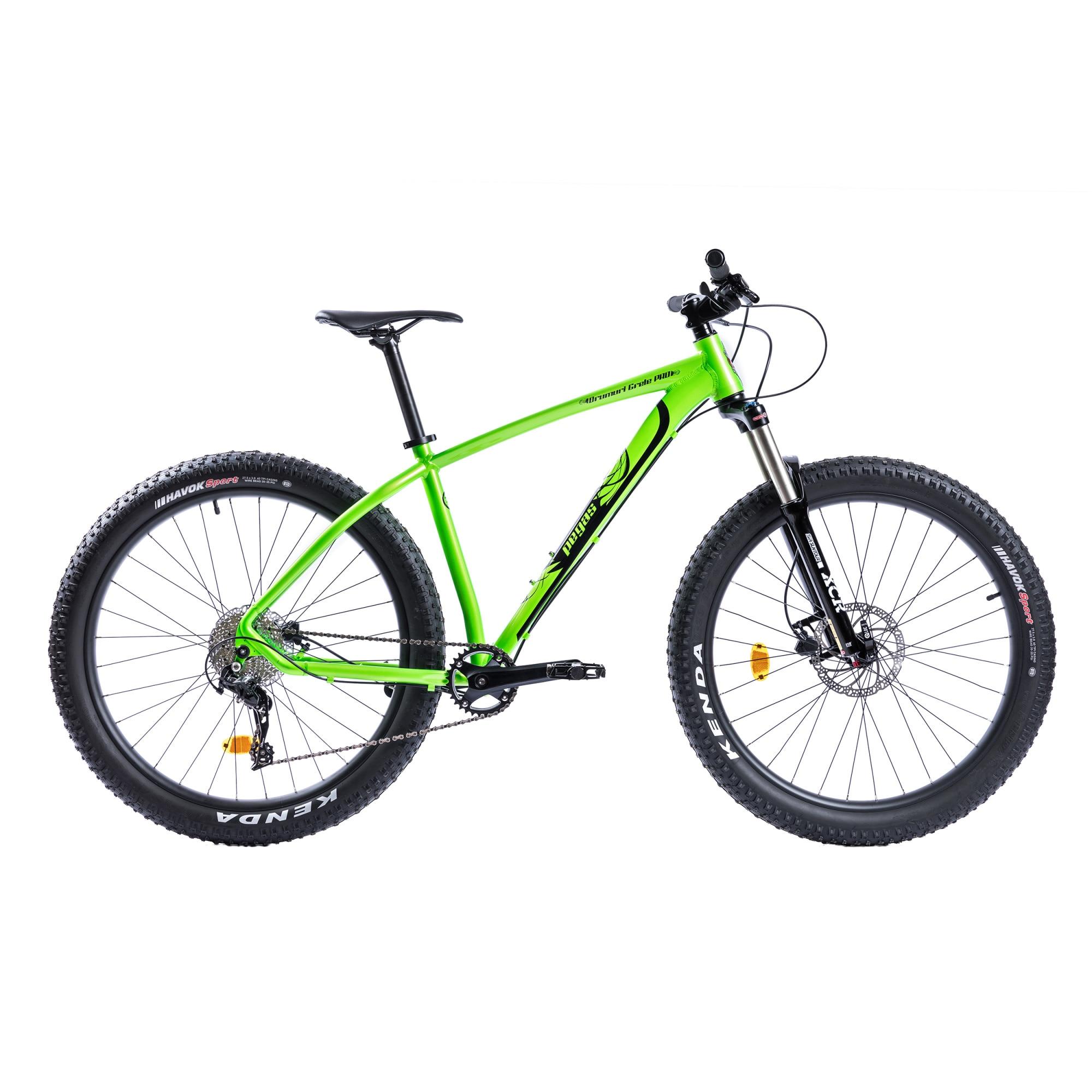 "Fotografie Bicicleta Pegas MTB Fat Bike Drumuri Grele Pro 18.5"", Verde/Negru"