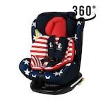 Детска седалка Crocodile Tweety, Въртяща се на 360 градуса Isofix 0-36 кг, Captain America